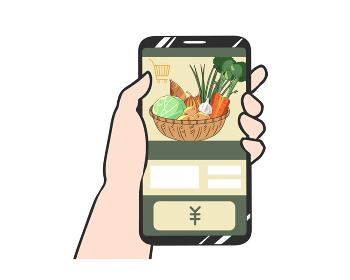 スマホ 野菜 ネットショッピング