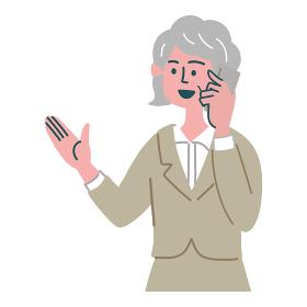 スーツ 女性 シニア 士業 携帯電話 スマホ 提案