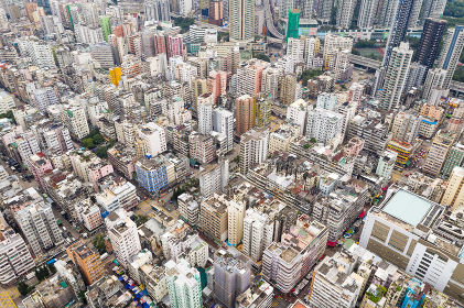 Top view of Hong Kong in kowloon side