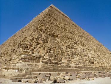 エジプト・カイロにあるギザピラミッドのクローズアップ