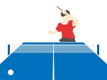 男性の卓球選手のイラスト