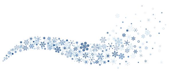 雪の結晶 波打つスノーフレーク