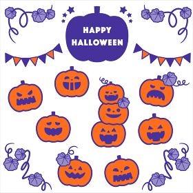 ハロウィンかぼちゃオバケセット/2色