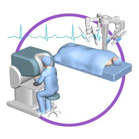 5G 高速かつ大容量ネットワークで変わる遠隔手術の世界 (バリエーションあり)