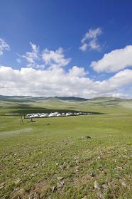 モンゴルのツーリストゲルキャンプ