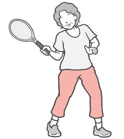 テニス 中年女性 女性