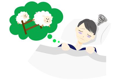 不眠症 女性 夜 ミドル 羊を数える