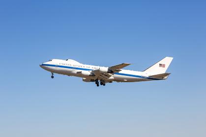 アメリカ政府の政府専用機E-4B(福生市・東京)
