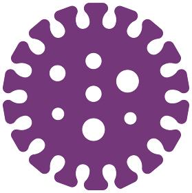 新型コロナウイルス (Covid-19) 予防 / インフルエンザ・感染症 ベクターアイコン