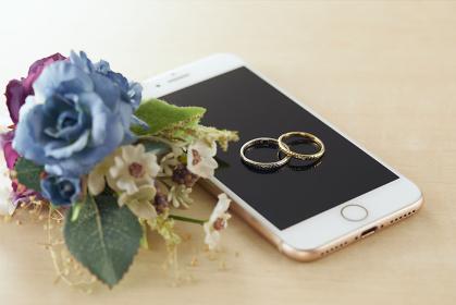 ブートニアと結婚指輪