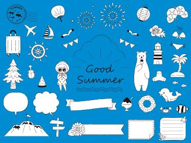 手描き カワイイ夏のイラスト素材集