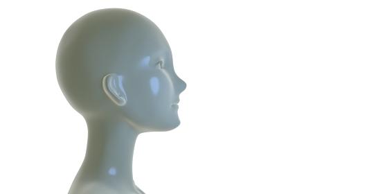 女性型マネキンの横顔 3DCG