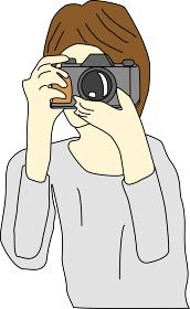 カメラを構える人のイラスト素材