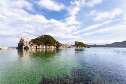 日本の岩手県・三陸の国立公園、浄土ヶ浜