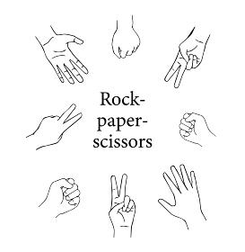 じゃんけん-Rock-paper-scissors-line
