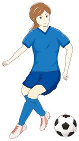 サッカーをする女性06