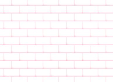背景素材 白い煉瓦 マシュマロカラー ピンク