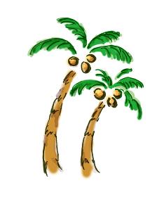手描きイラスト素材 シの木 ヤシ 椰子 椰子の木