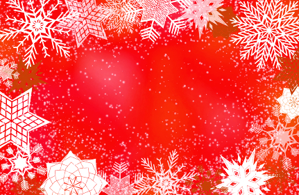 背景素材 雪の結晶 赤