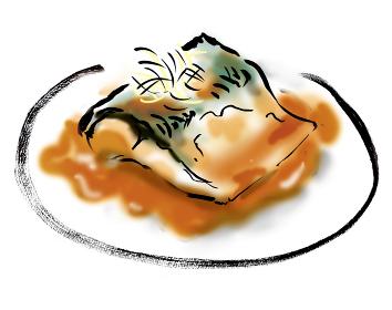 和風手描きイラスト素材 サバの味噌煮