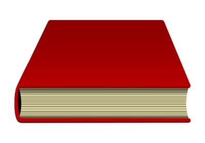 本・書籍 (閉じている) 下から見た イラスト