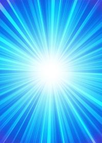 【背景画像素材】放射線状の光の背景 青 縦位置【集中線・スピード感】
