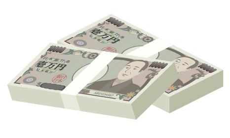 札束(200万円)のベクターイラスト
