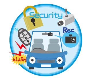 車のセキュリティや防犯に関するイラスト