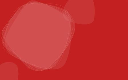 シンプルな線と図形のアブストラクト素材、赤背景とコピースペース