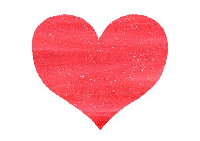 情熱的な真っ赤なハート バレンタインデー