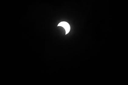 金環日食  08:17:44 跡1/3で終わり