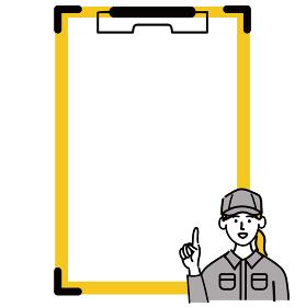 作業服 女性 若い 提案 クリップボード 空欄 空白 人差し指 ポップ 手描き