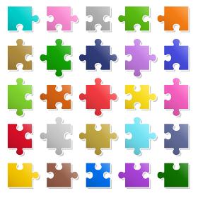 25ピースパズル 素材