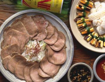 韓国風牛舌のボイル