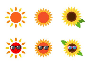 太陽 ひまわり アイコン