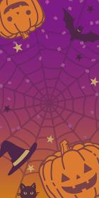 ハロウィンのかわいい背景イラスト(秋セールのバナー素材)