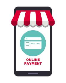 オンラインショップ、オンライン決済コンセプト、スマートフォン