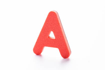 A アルファベット 白背景