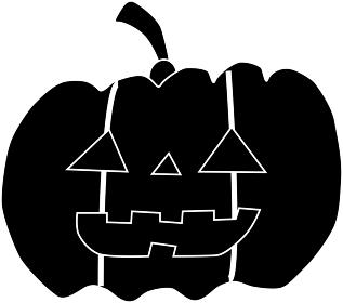 シンプルなハロウィンのかぼちゃ「シルエット」