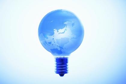 電灯の地球儀