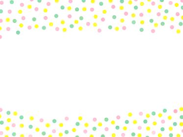 カラフルでかわいい さわやかな水玉模様 白背景