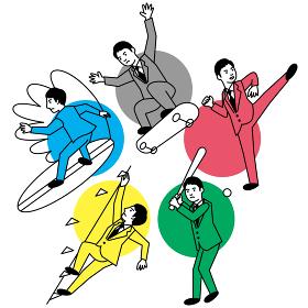 スポーツ 男性 五種
