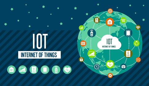 IoT(Internet of things) / モノのインターネットイメージイラスト(地球)
