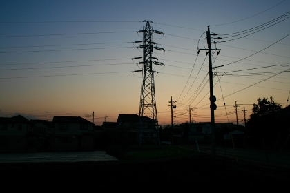 夕景,鉄塔