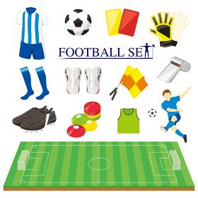 サッカーイラストレーションセット