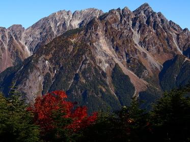 秋の北アルプス明神岳