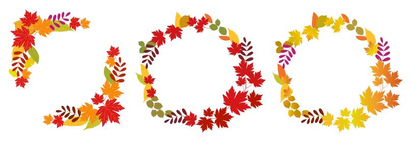 秋の紅葉フレームセット