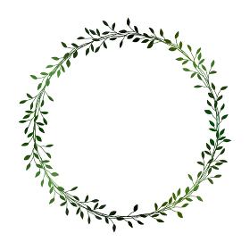 緑の小枝のフレームイラスト 1