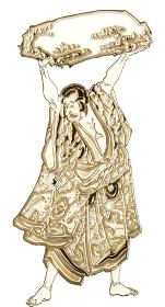 浮世絵 歌舞伎役者 その23 ゴールドバージョン