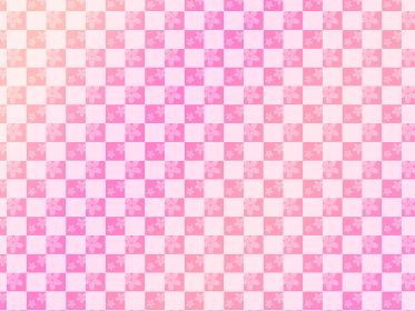 四月の花 桜の市松模様のパターン背景